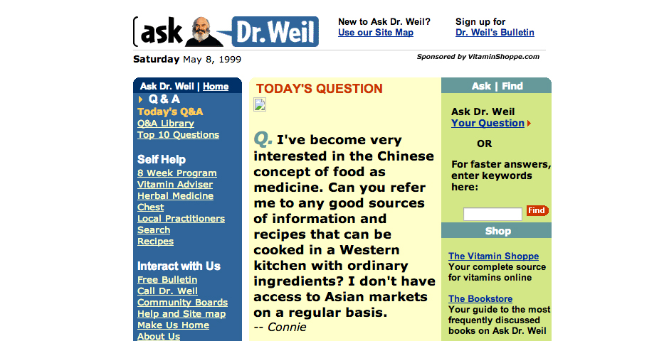 Nominee - Ask Dr. Weil