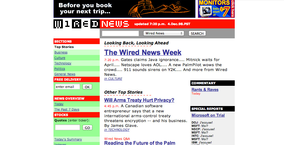 Webby Award Nominee - Wired News