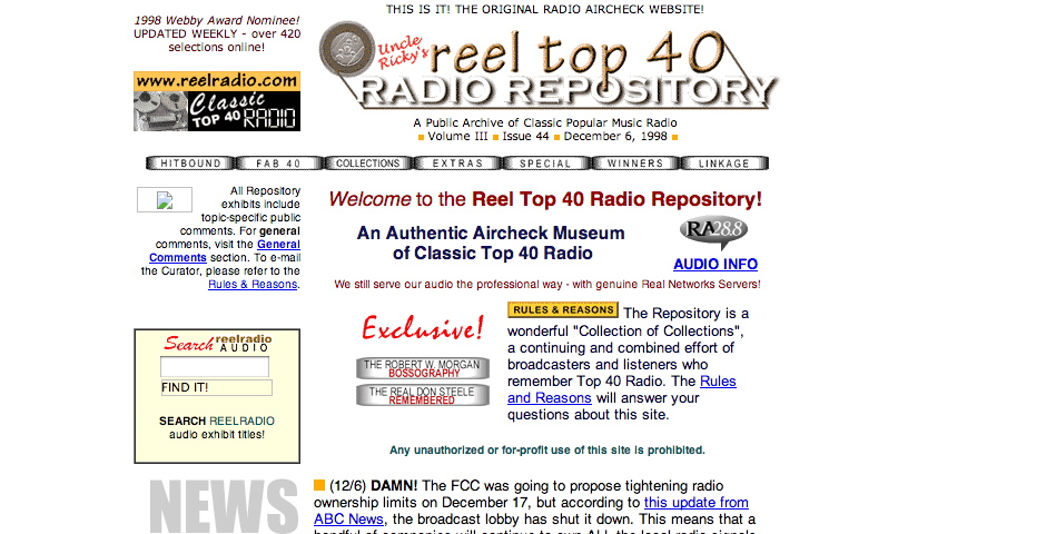Nominee - Uncle Ricky's Reel Top 40 Repository