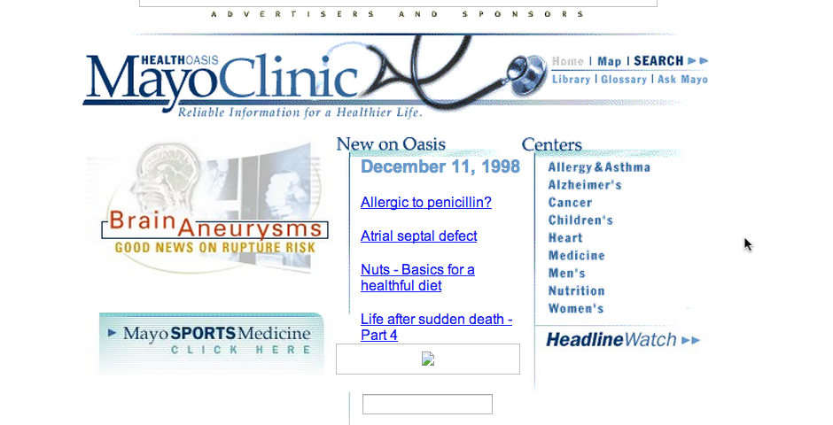 Webby Award Winner - Mayo Clinic Health Oasis