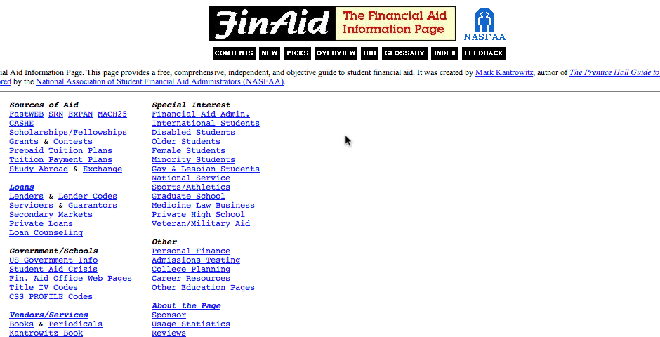 Nominee - The Financial Aid Information Page