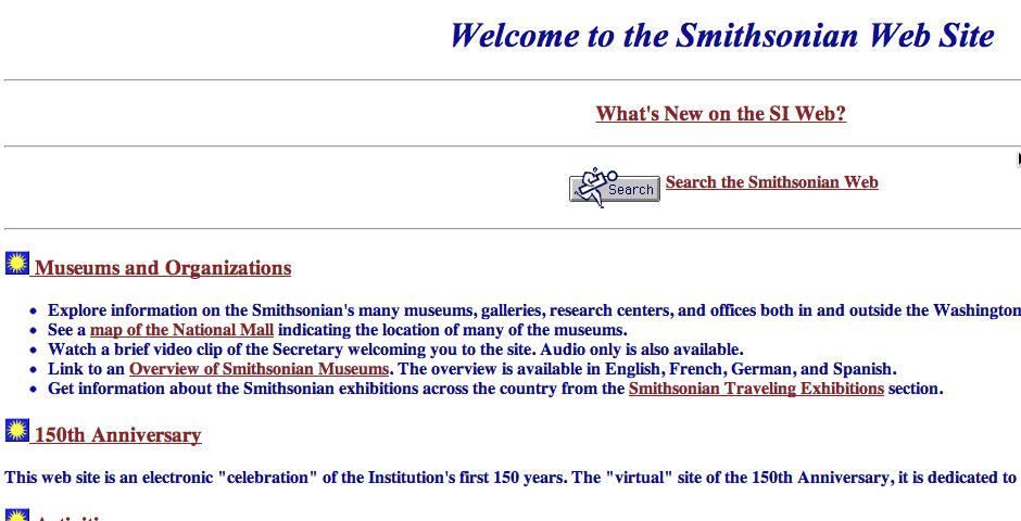 Webby Award Nominee - The Smithsonian