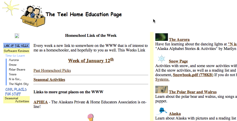 Nominee - The Home Education Page