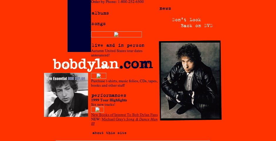 Webby Award Nominee - bobdylan.com