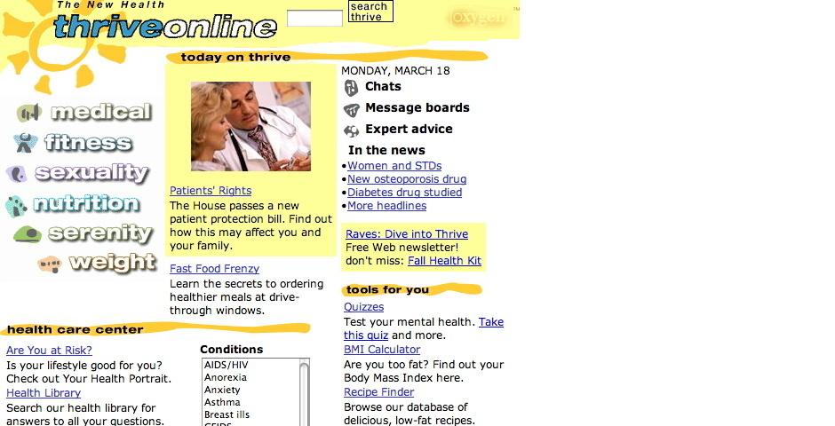 Webby Award Nominee - thriveonline
