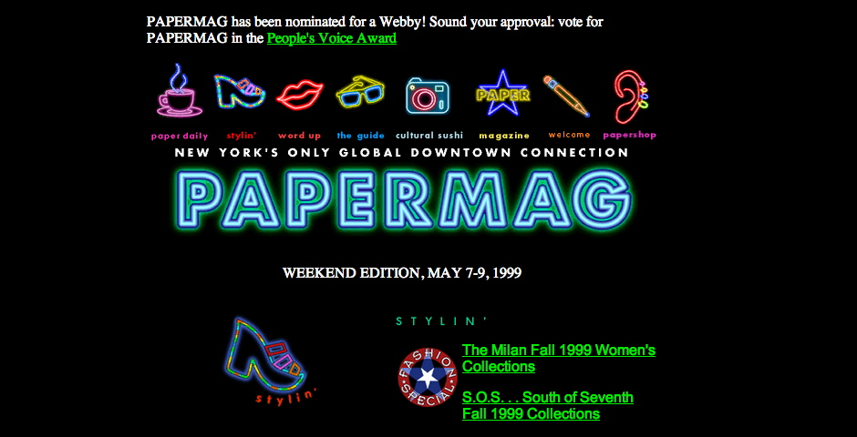 Webby Award Winner - PaperMag