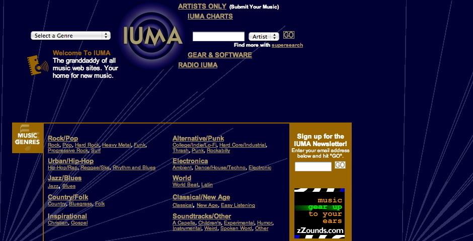 Webby Award Nominee - Internet Underground Music Archive