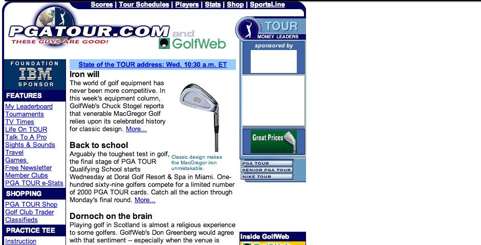 Nominee - GolfWeb