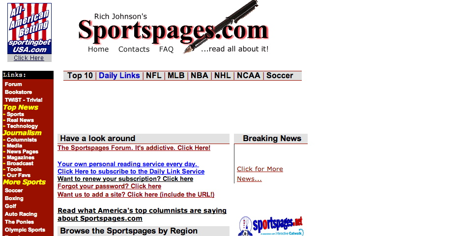 Webby Award Winner - SportsPages.com