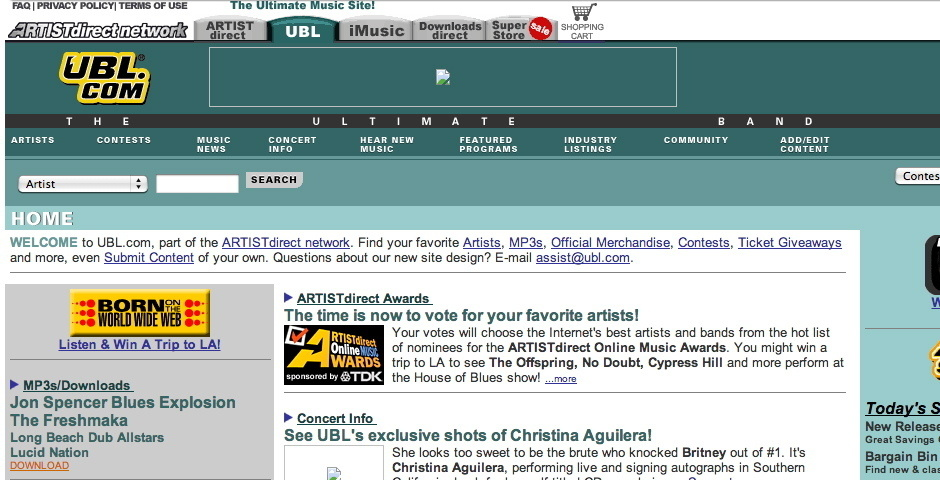 Webby Award Nominee - The Ultimate Band List
