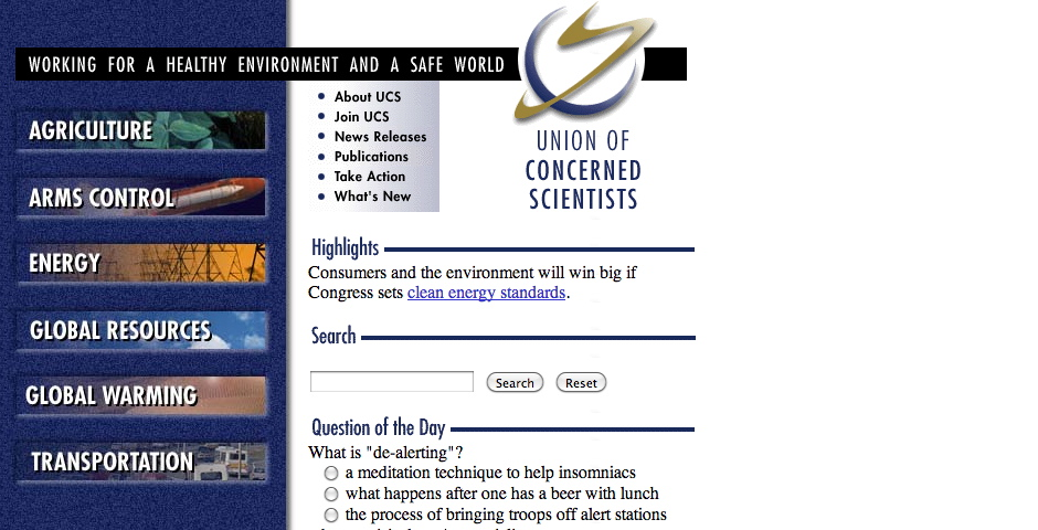 Nominee - Union of Concerned Scientists