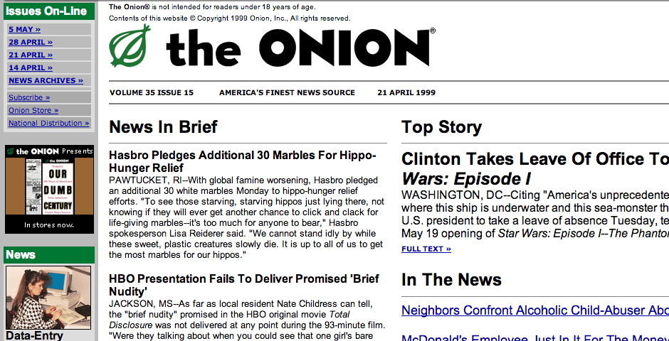 People's Voice / Webby Award Winner - The Onion