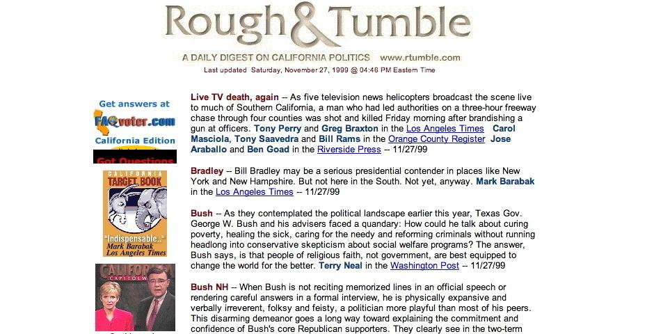 Webby Award Nominee - Rough & Tumble