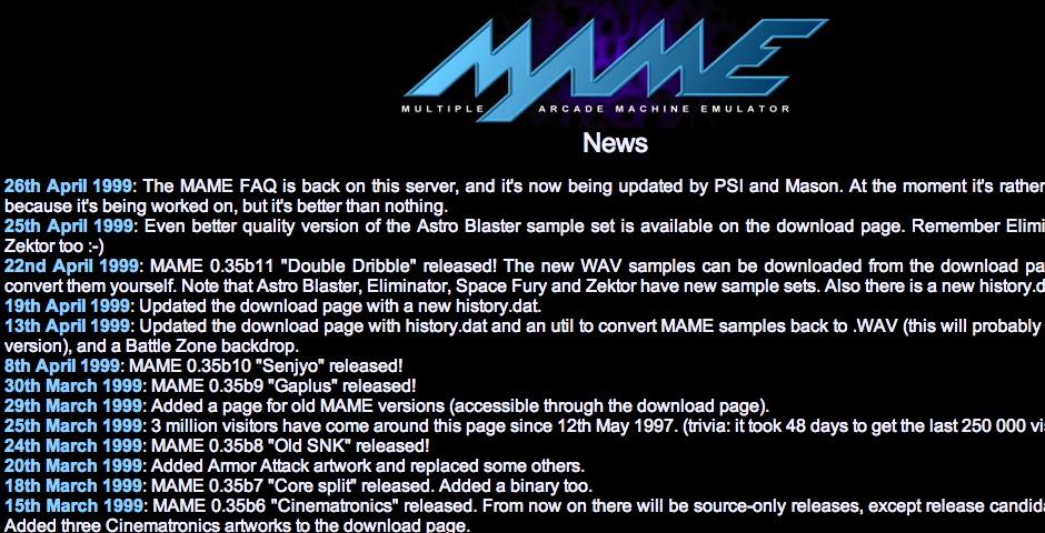 Nominee - Multiple Arcade Machine Emulator