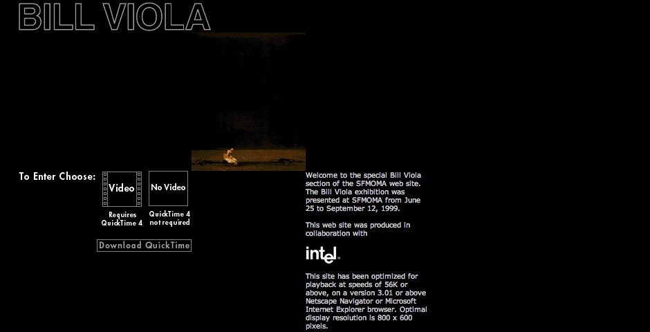 2000 Webby Winner - SFMOMA Presents Bill Viola