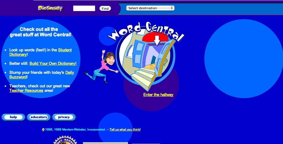 2000 Webby Winner - Merriam-Webster Word Central
