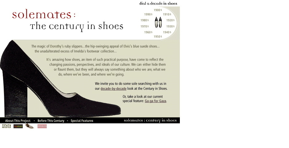 Webby Award Nominee - Solemates: The Century in Shoes