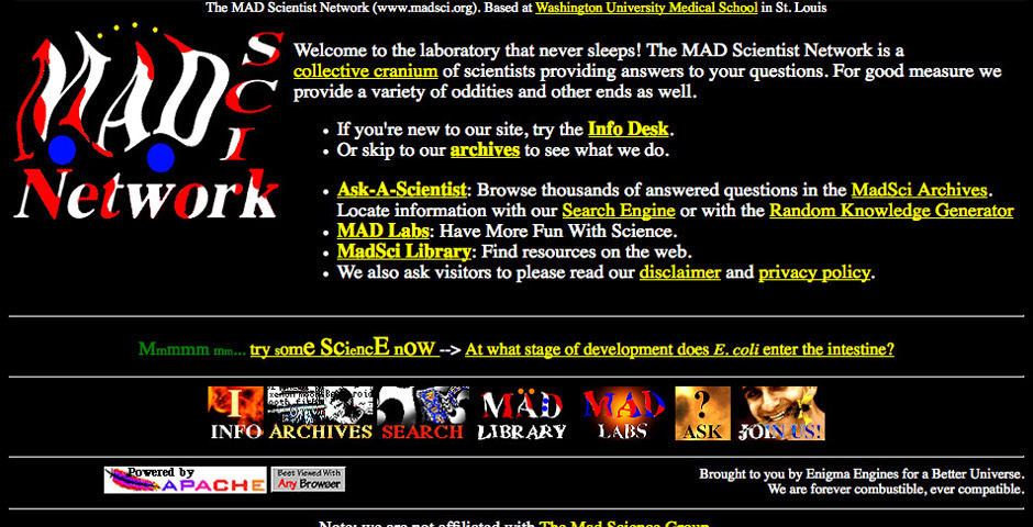 Webby Award Nominee - The Mad Scientist Network