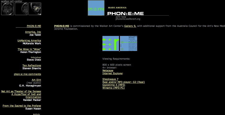 Webby Award Nominee - PHON:E:ME