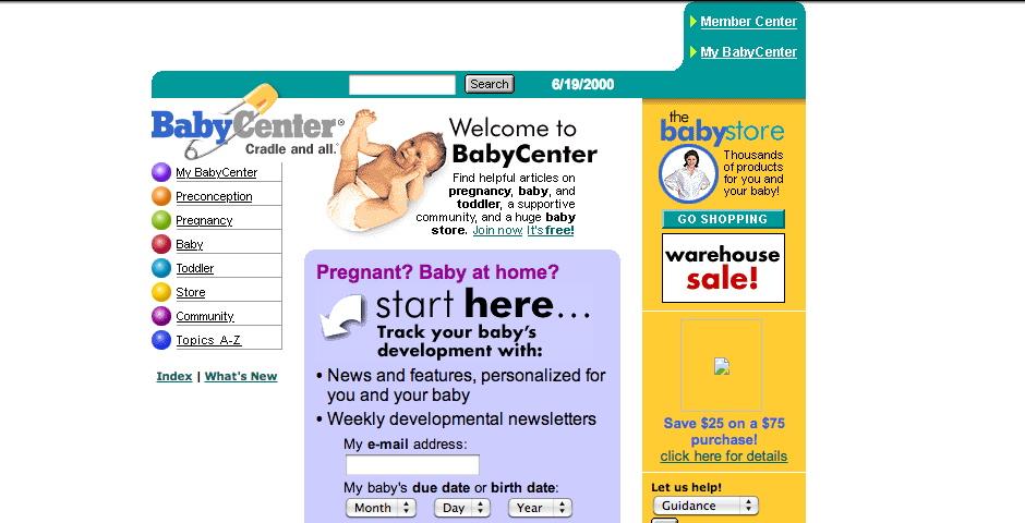 Webby Award Winner - BabyCenter