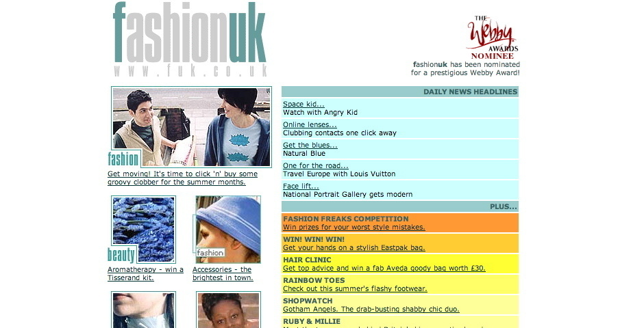 Webby Award Nominee - FashionUK