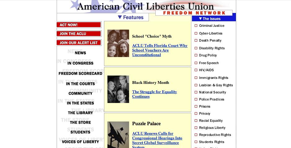 Nominee - American Civil Liberties Union