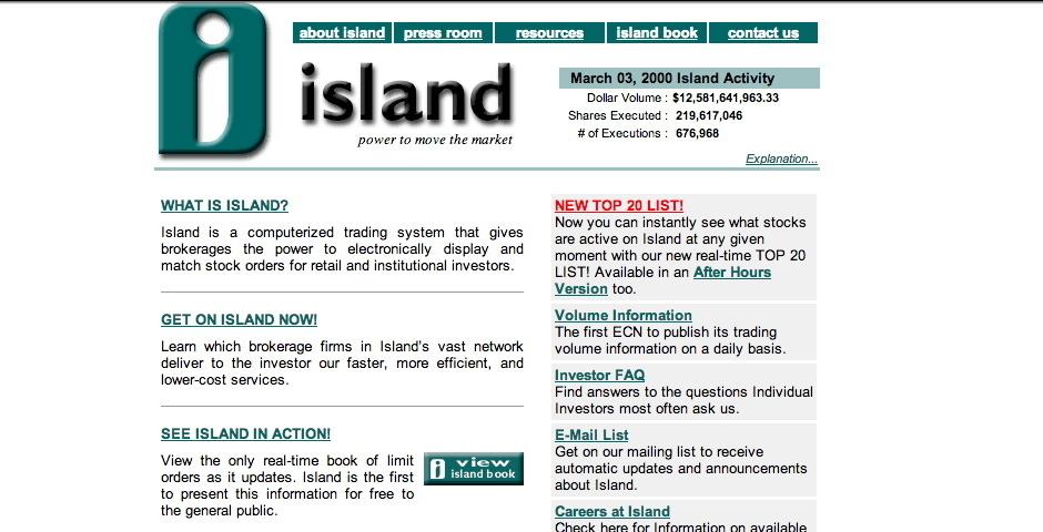 Webby Award Nominee - Island