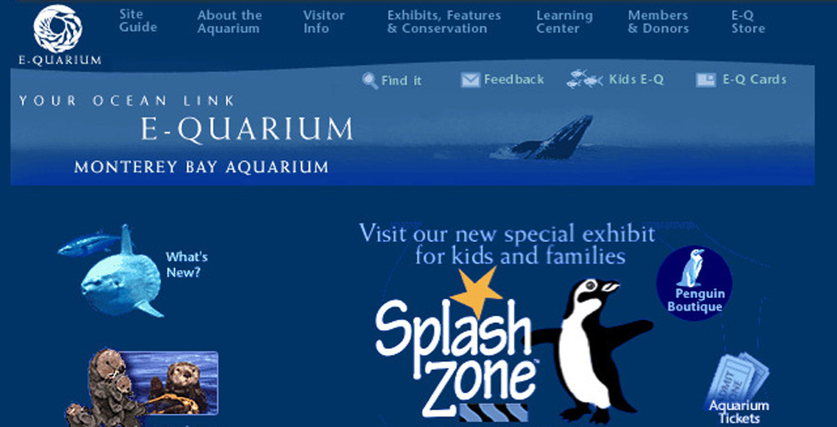 2000 Webby Winner - Monterey Bay Aquarium