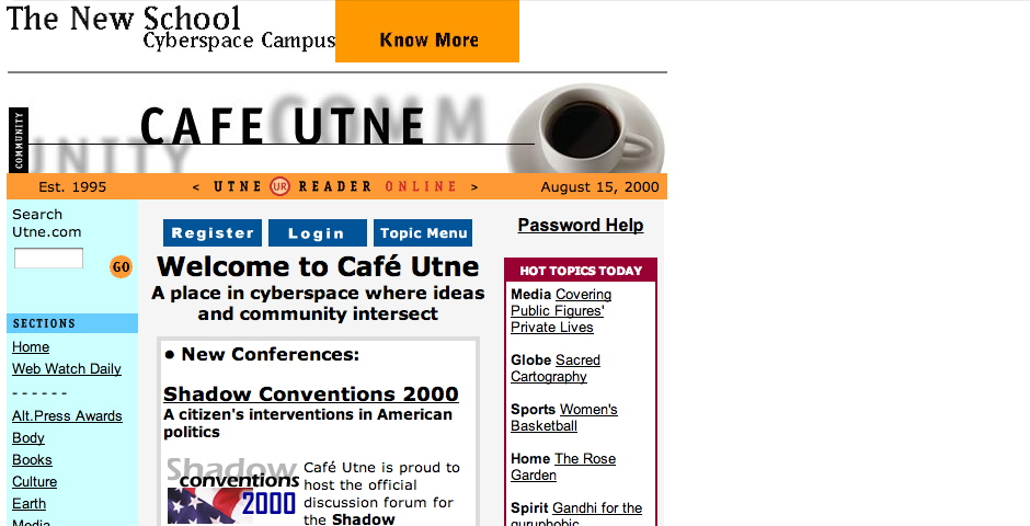 Webby Award Winner - Cafe Utne