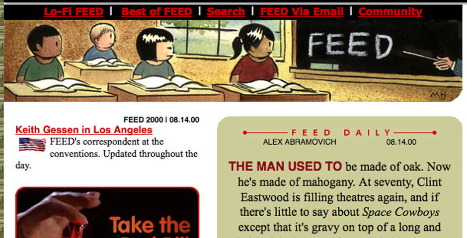 Webby Award Nominee - Feed Magazine