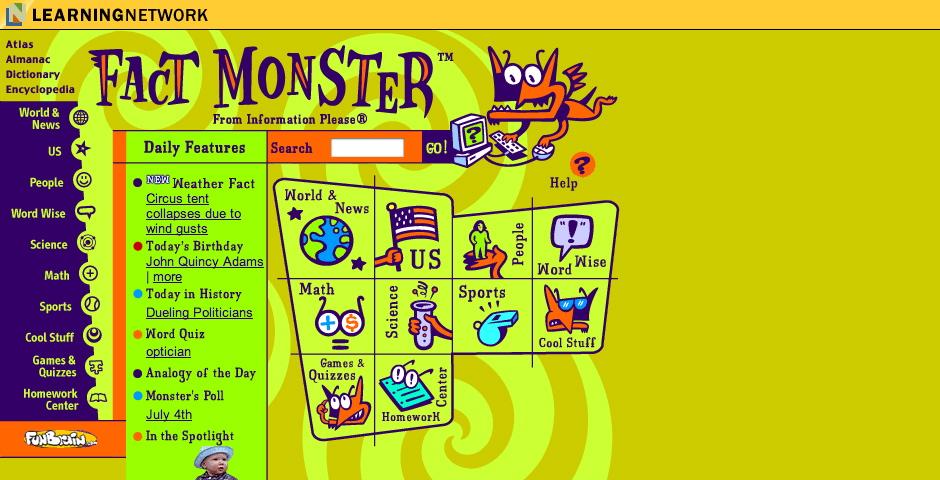 Webby Award Winner - Fact Monster