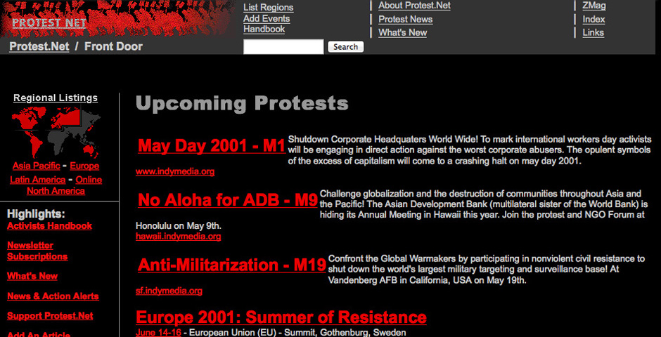 Nominee - Protest Net
