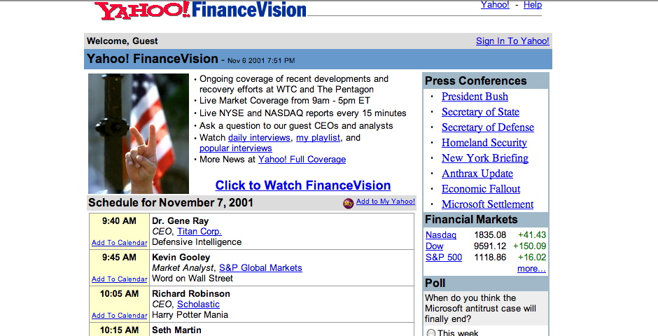 People's Voice - Yahoo! Finance Vision