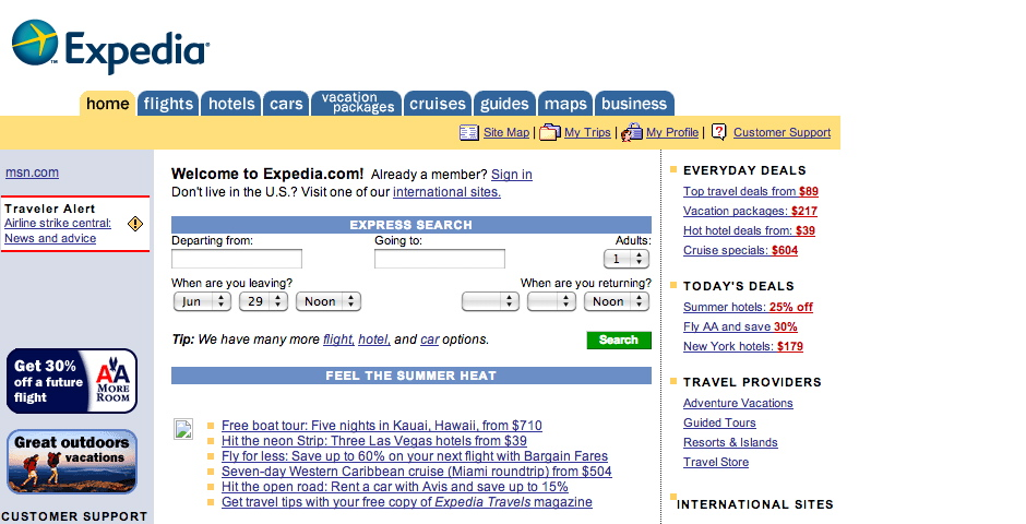 Webby Award Winner - Expedia