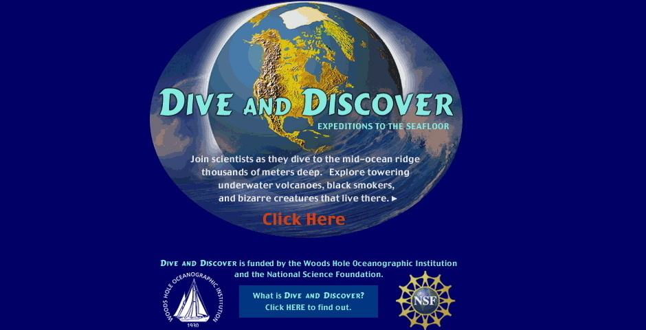 Webby Award Nominee - Dive and Discover