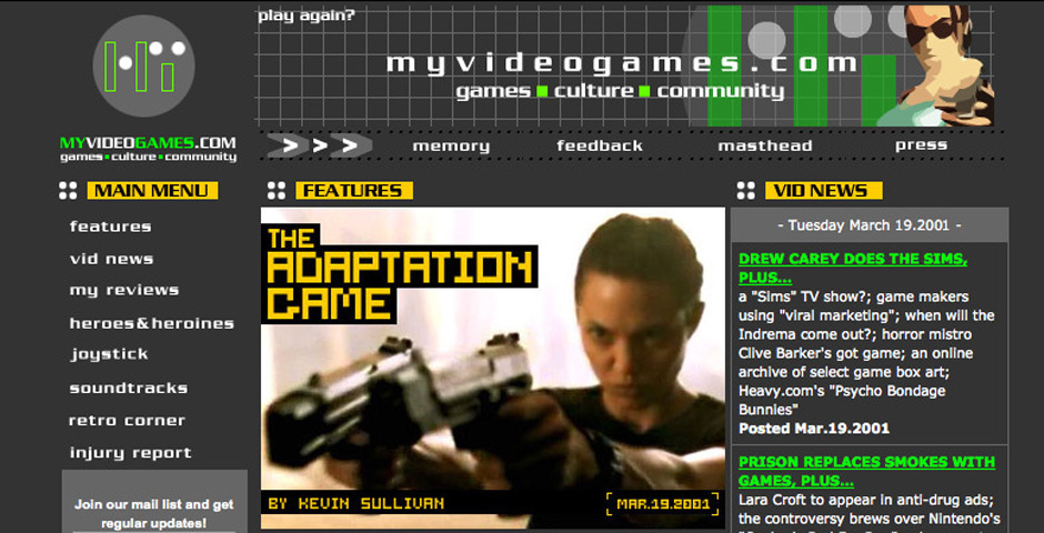 Webby Award Nominee - My Video Games