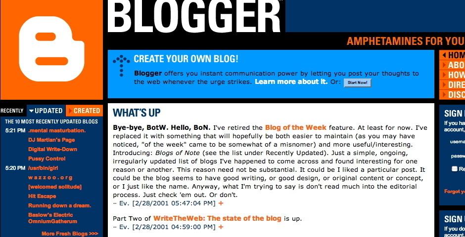 Webby Award Nominee - Blogger