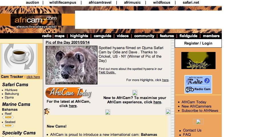 2001 Webby Winner - AfriCam