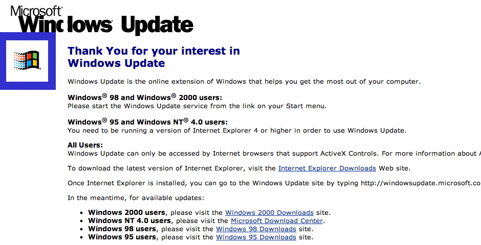 People's Voice / Webby Award Winner - Microsoft Windows Update