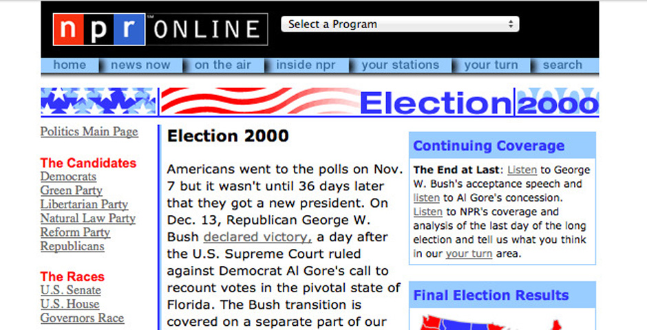 Nominee - NPR Election 2000