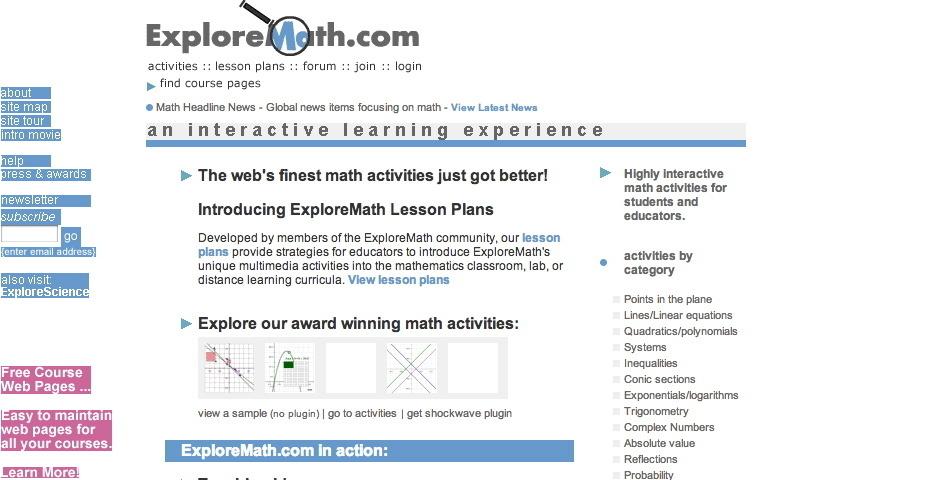 Webby Award Nominee - ExploreMath
