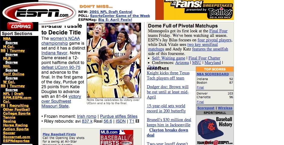 2001 Webby Winner - ESPN.com