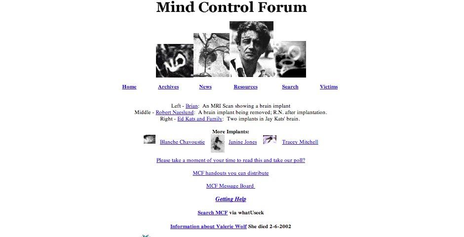 Nominee - Mind Control Forum