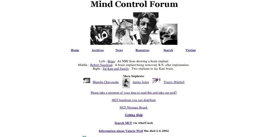 Webby Award Nominee - Mind Control Forum
