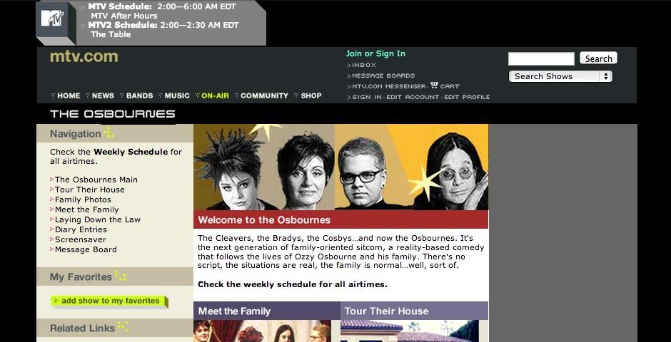 Webby Award Winner - The Osbournes