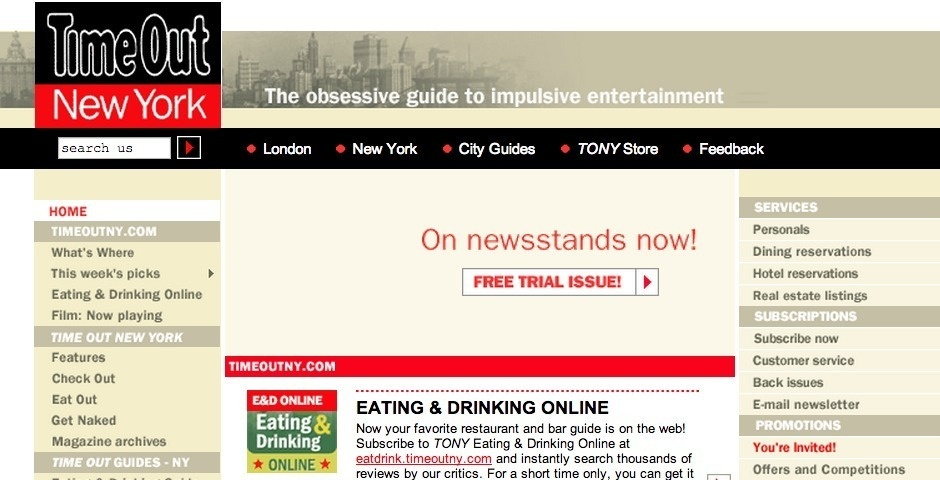 Webby Award Nominee - Time Out New York & Blenderbox