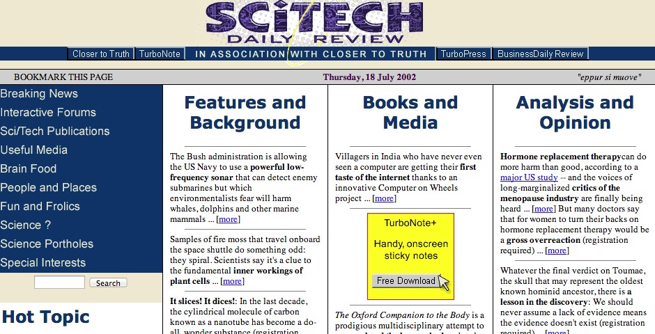 Nominee - SciTech Daily Review