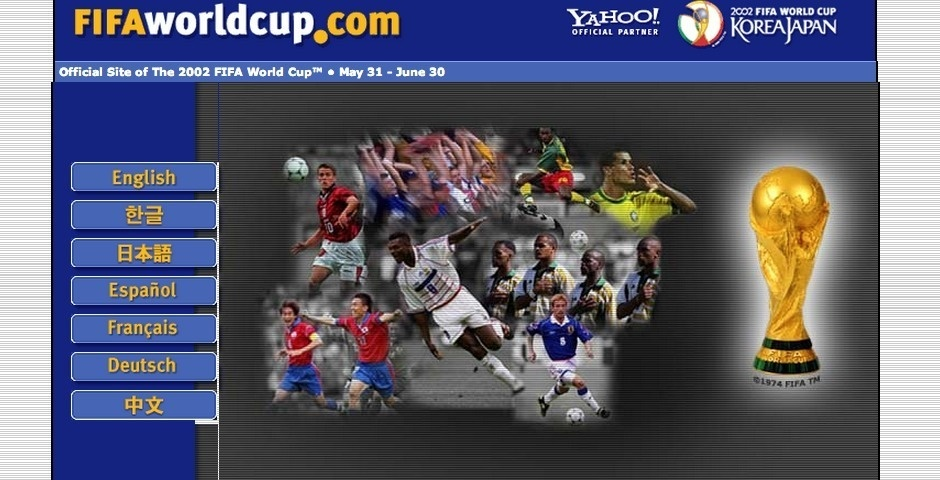 Webby Award Nominee - 2002 FIFA World Cup