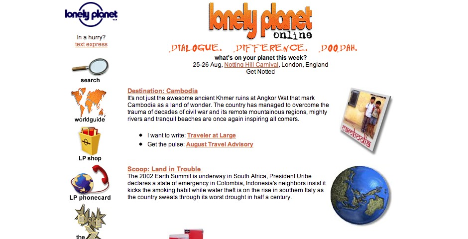People's Voice / Webby Award Winner - Lonely Planet Online