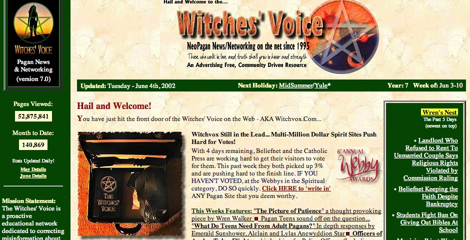 People's Voice - The Witches' Voice, Inc.